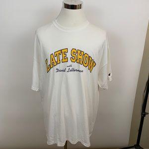 XXL Champion Late Show tee shirt